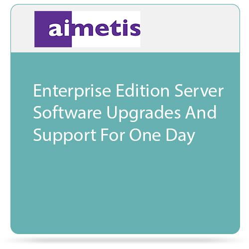 aimetis Symphony 7 Enterprise Edition Server Software Upgrades and Support for One Day