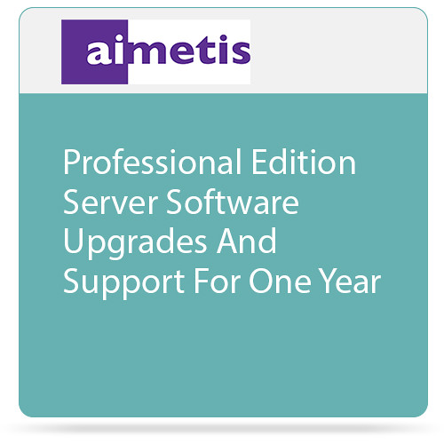 aimetis Symphony 7 Professional Edition Server Software Upgrades and Support for One Year