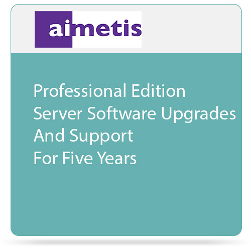 aimetis Symphony 7 Professional Edition Server Software Upgrades and Support for Five Years