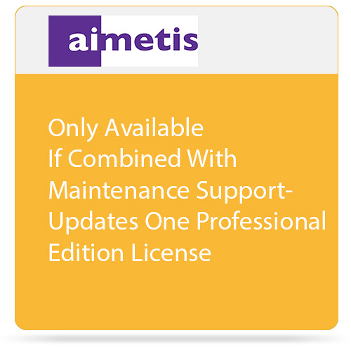 aimetis One Symphony 7 Professional Edition License Update to Latest Software Version (Combined with Maintenance Support)