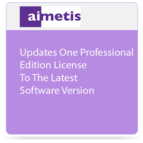 aimetis One Symphony 7 Professional Edition License Update to Latest Software Version