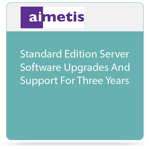 aimetis Symphony 7 Standard Edition Server Software Upgrades and Support for Three Years