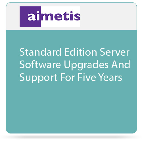 aimetis Symphony 7 Standard Edition Server Software Upgrades and Support for Five Years