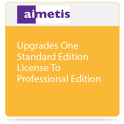 aimetis One Symphony 7 Standard Edition License Upgrade to Professional Edition