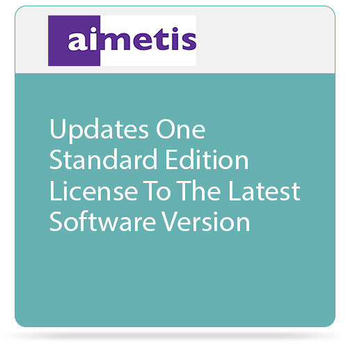 aimetis One Symphony 7 Standard Edition License Update to Latest Software Version