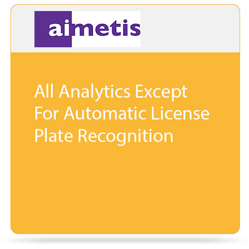 aimetis All Symphony 7 Analytics Except Automatic License Plate Recognition