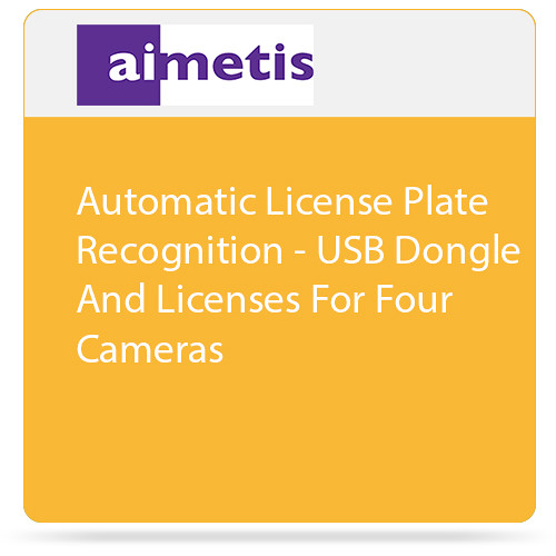aimetis Symphony 7 Automatic License Plate Recognition with USB Dongle and Licenses for 4 Cameras