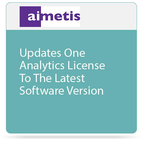 aimetis Update One Symphony 7 Analytics License to Latest Software Version