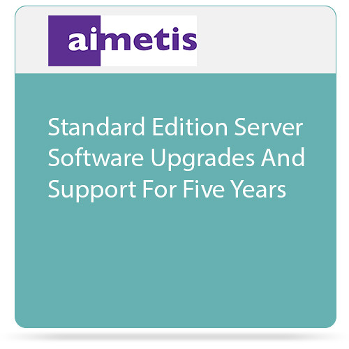 aimetis Symphony Standard Edition Server Software Upgrades and Support for Five Years