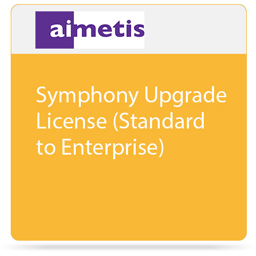 aimetis Symphony Upgrade License (Standard to Enterprise)