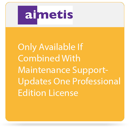 aimetis One Professional Edition License Update to Latest Software Version (Combined With Maintenance Support)