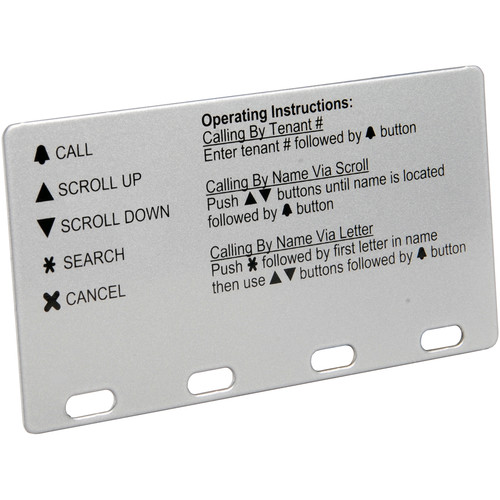 Aiphone Operation Plate for GH Intercom Series