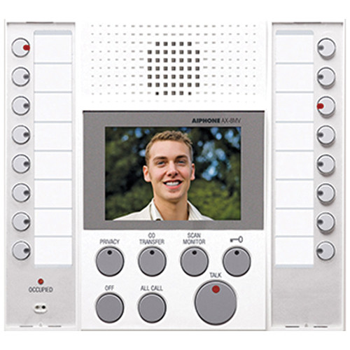 Aiphone AX-8MV-W Master Station for AX Series Integrated Audio/Video Security System (White)
