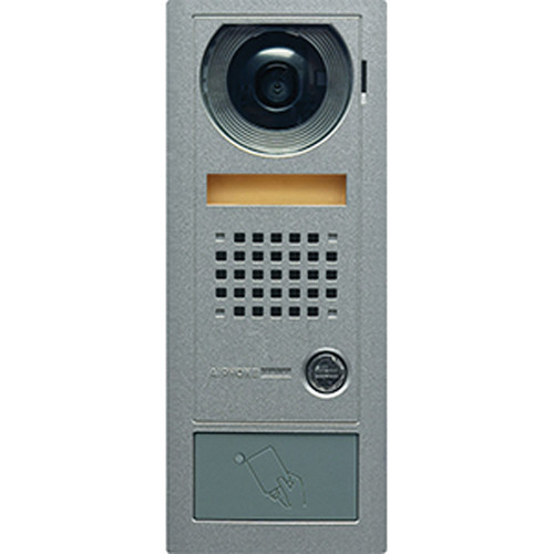 Aiphone AX-DV-P Vandal-Resistant Surface-Mount Color Video Door Station with Built-In HID ProxPoint Plus Card Reader (Metallic Gray)