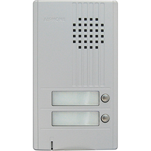 Aiphone DA-2DS 2-Call Audio Entrance Door Station for DA Series Two-Wire Door Entry System (Silver)
