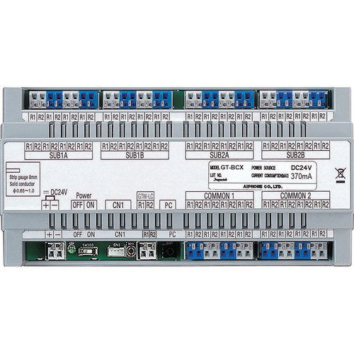 Aiphone GT-BCX Expanded Audio Bus Control Unit for GT Multi-Tenant Color Video Entry Security System