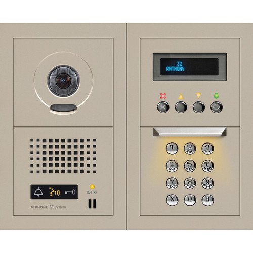 Aiphone GTV-DES202A Video Entrance Station with Digital Directory (2x2)