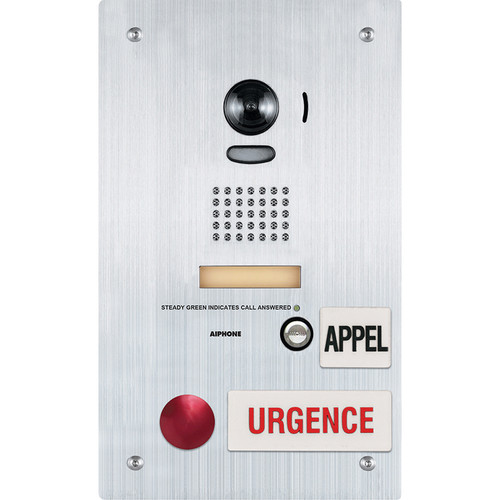 Aiphone IS-DVF-2RA-FR Video Emergency Call Station with French Language Signage