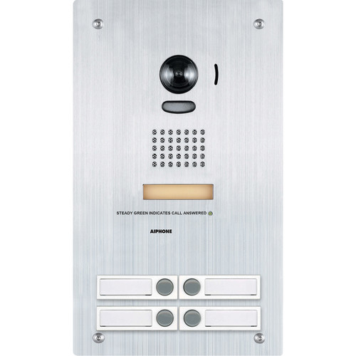 Aiphone IS-IP4DVF Flush Mount IP Video Door Station with 4 Call Buttons