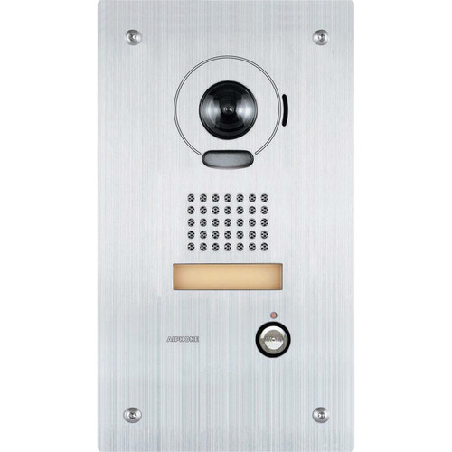 Aiphone IS-IPDVF Flush Mount IP Video Door Station for IS Series Video Intercom System (Stainless Steel)