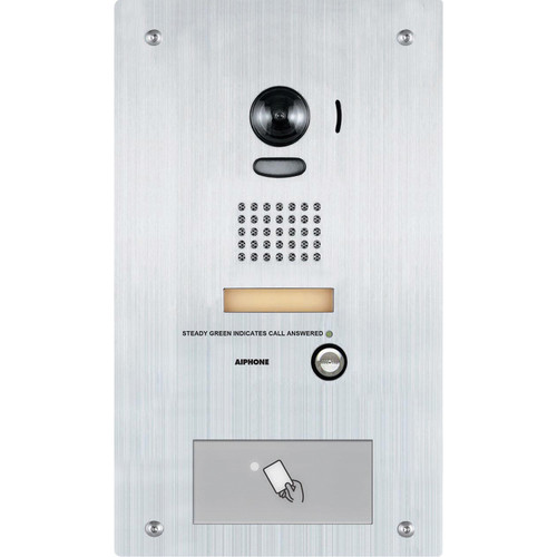 Aiphone IS-IPDVF-HID Flush-Mount IP Video Door Station with HID Proximity Reader (Stainless-Steel)