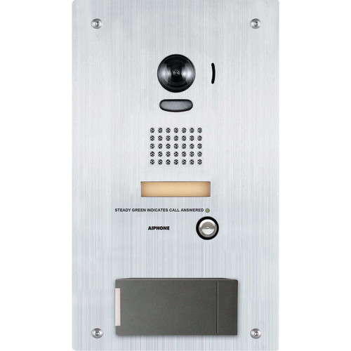 Aiphone IS Series IS-DVF-HID-I Vandal-Resistant Color Video Door Station with Built-In HID iCLASS Smart Card Reader