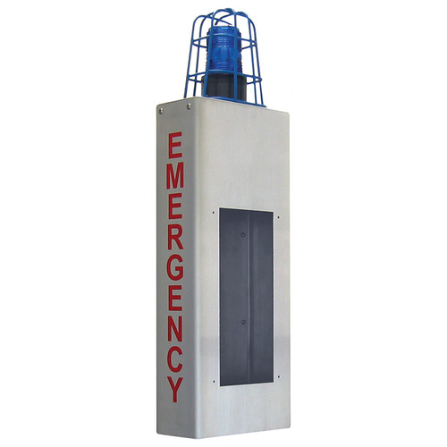 Aiphone IS Series IS-WBCE Stainless-Steel Wall Mount Box with Emergency Signage and Light Cage