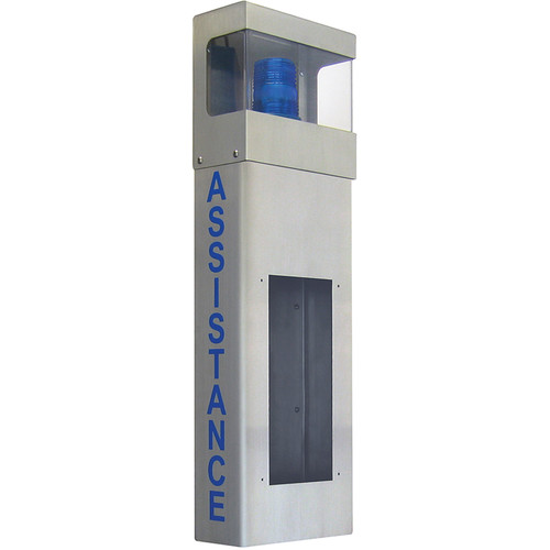 Aiphone IS Series IS-WBHA Stainless-Steel Wall Mount Box with Assistance Signage and Light Enclosure