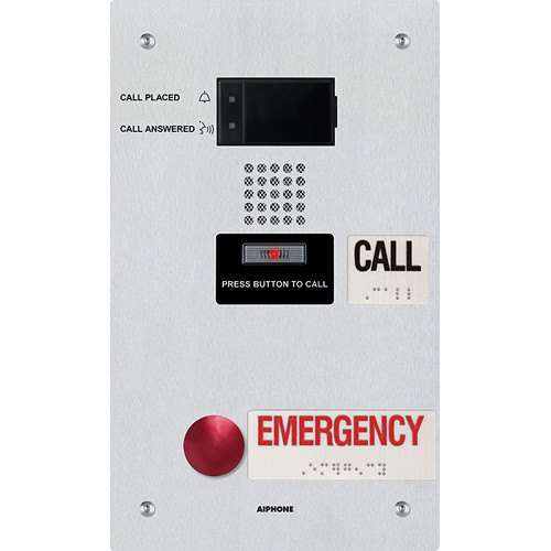 Aiphone IX-SS-2RA IP Addressable Dual-Call Button Audio Emergency Station for the IX Series Video Intercom Systems