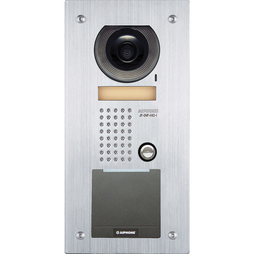 Aiphone JF-DVF-HID-I Vandal-Resistant Color Video Door Station with HID iCLASS Card Reader