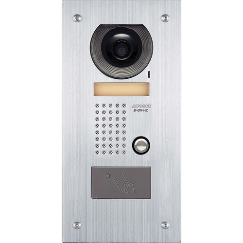 Aiphone JF-DVF-HID Vandal-Resistant Flush-Mount Color Video Door Station with HID ProxPoint Plus Proximity Card Reader