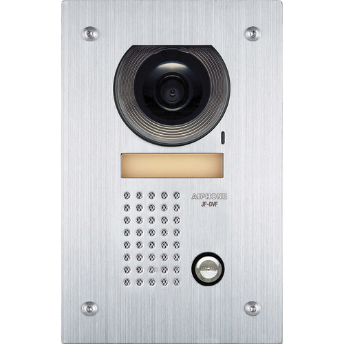Aiphone JF-DVF Vandal-Resistant Flush Mount Color Video Door Station (Stainless Steel)