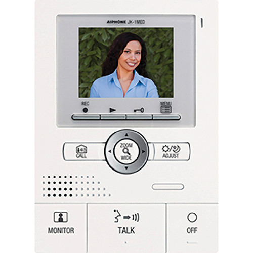 Aiphone JK-1MED Master Monitor Station with Picture Memory for JK Series Hands-Free Color Video Intercom System