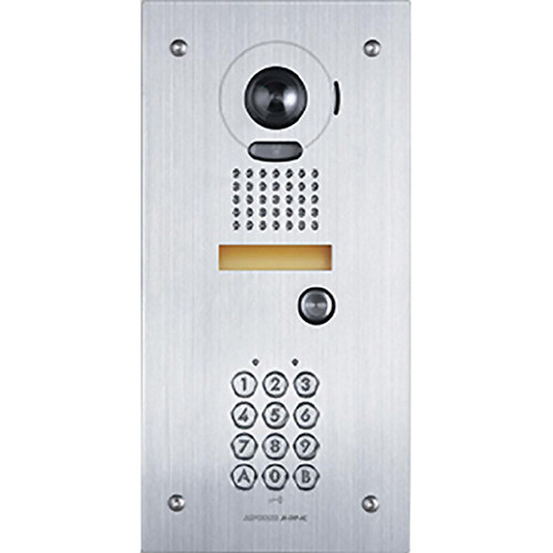 Aiphone JK-DVF-AC Vandal-Resistant Color Video Door Station with Access Control Keypad
