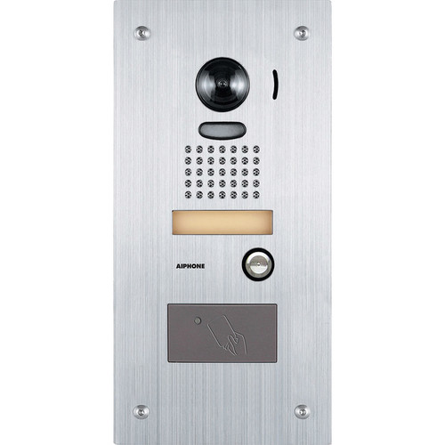 Aiphone JK-DVF-HID Vandal Resistant Color Video Door Station with Built-in Proximity Card Reader