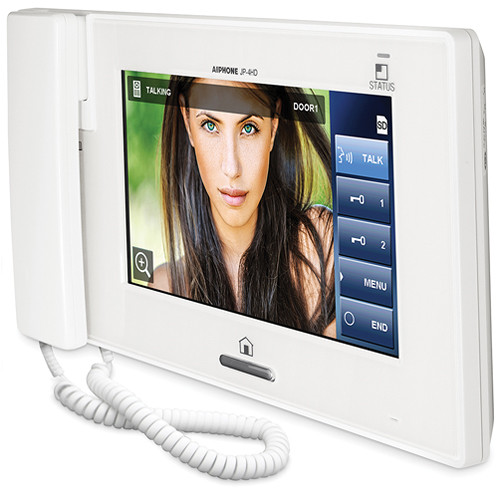 Aiphone JP-4HD Hands-free Color Video Intercom Sub Master Station (White)