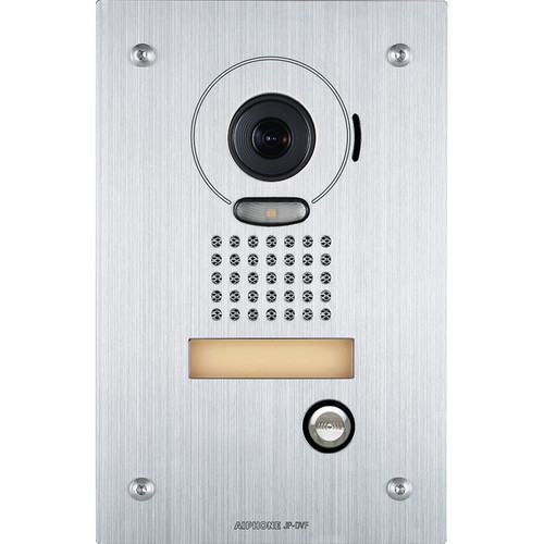 Aiphone JP-DVF Flush Mount Vandal-Resistant Color Video Door Station for JP Series Video Intercom