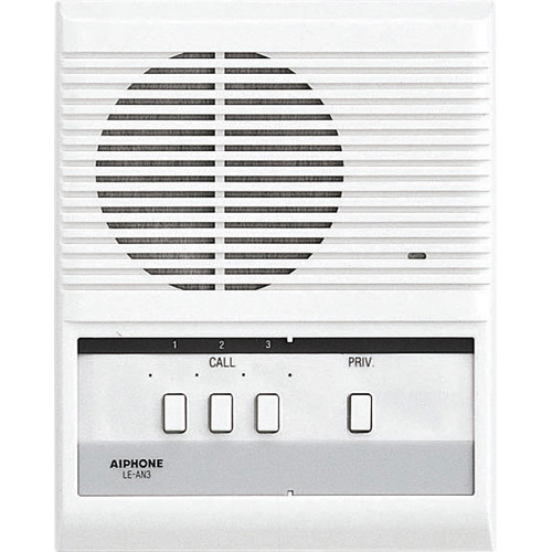 Aiphone LE-AN3 3-Call Audio Interior Sub Station with Privacy Button for LEF/LAF Master Station
