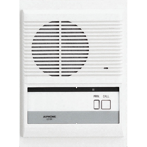 Aiphone LE-BN Single Call Semi-Flush Mount Sub Station with Privacy Button for LE Series Master Stations