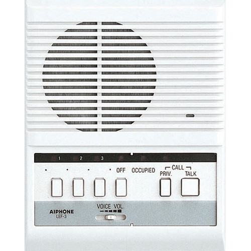Aiphone LEF-3 3-Call Master Station for LEF Series Hands-Free Intercom System