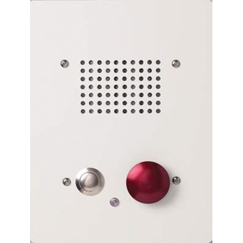 Aiphone NE-NVP-2DC/A Sub Station with Standard Call Button and Red Emergency Call Button for NDR/NDRM Intercom System