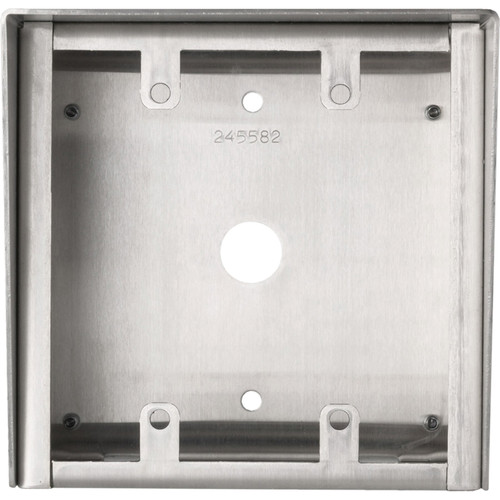 Aiphone SBX-2G Stainless Steel Surface Mount Box for 2-Gang Sub Stations