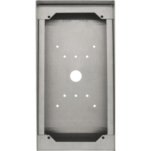 Aiphone SBX-DVF-P Stainless Steel Surface Mount Box for Video Door Stations