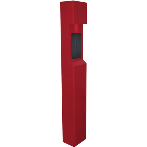Aiphone TW-20 2-Module Mid-Level Weather- and Vandal-Resistant Modular Tower for IS Series Rescue Assistance Stations (Red)