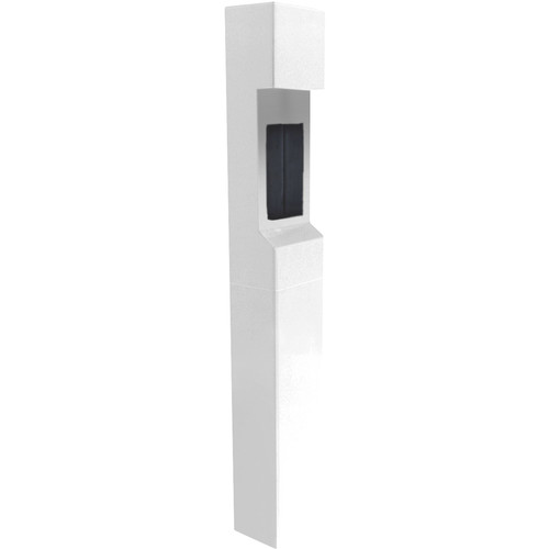 Aiphone TW-20 2-Module Mid-Level Weather- and Vandal-Resistant Modular Tower for IS Series Rescue Assistance Stations (White)
