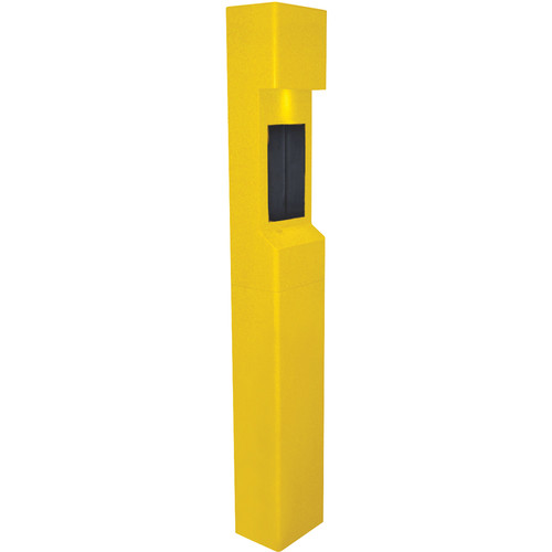 Aiphone TW-20 2-Module Mid-Level Weather- and Vandal-Resistant Modular Tower for IS Series Rescue Assistance Stations (Yellow)