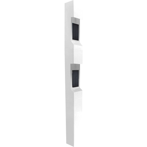 Aiphone TW-22 3-Module Dual Station Weather- and Vandal-Resistant Modular Tower for IS Series Rescue Assistance Stations (White)