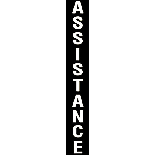 """Aiphone """"ASSISTANCE"""" Label Option for IS Series Modular Towers (White)"""