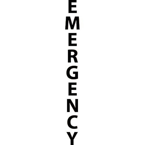 "Aiphone ""EMERGENCY"" Label Option for IS Series Modular Towers (Black)"
