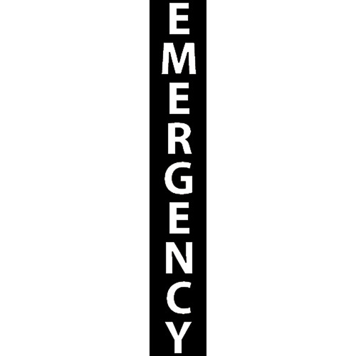 """Aiphone """"EMERGENCY"""" Label Option for IS Series Modular Towers (White)"""